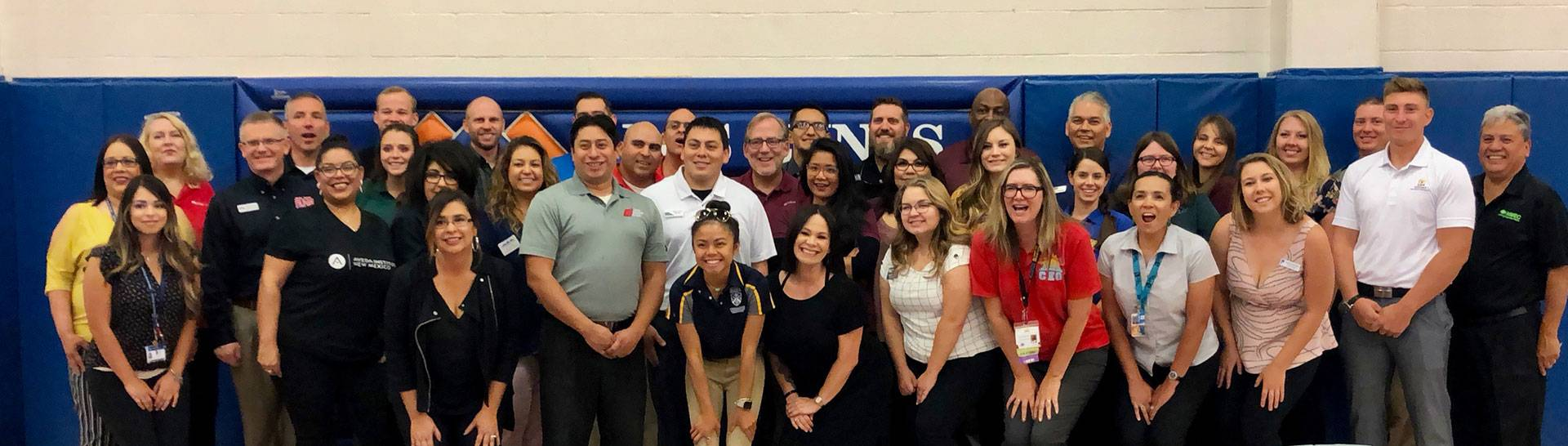 College Recruiters people as a group photo at Los Lunas High School