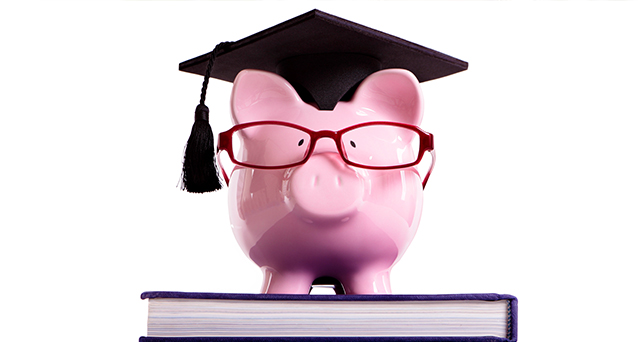 Piggy Bank with Hat and glasses